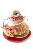 Straw hats on a pile — Zdjęcie stockowe