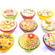 Decorated cupcakes — Stock Photo