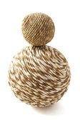 Wooden twisted ball — Stock Photo