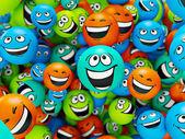 Komik gülümsüyor — Stok fotoğraf