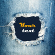 Stock Photo: Denim jeans texture