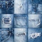 Постер, плакат: Denim jeans texture