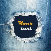 Textura de los pantalones vaqueros del dril de algodón — Foto de Stock
