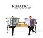 Valuta in handen — Stockfoto