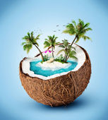 Isola tropicale — Foto Stock