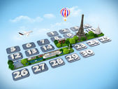 Traveling to Paris. — Stock Photo