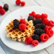 Blackberry and raspberry — Stock Photo