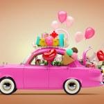Car of love — Stock Photo