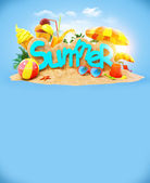 Summer background — Stockfoto