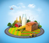 Agrarian background — Stock Photo