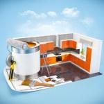 Interior design concept — Stock Photo