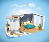 室内设计概念 — 图库照片