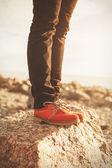 Orange shoes — Stock Photo