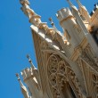 Stock Photo: Decoration of neogothic roof