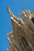 Decoration of the neogothic roof — Stock Photo