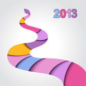 2013 Year of the snake — Stock Vector