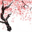 Cherry tree blossom — Vector de stock