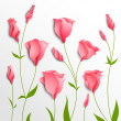 Flower vector background. Pink eustoma - Stockvektor