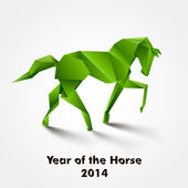 Year of the Horse design — Stock Vector