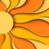 Sole. illustrazione vettoriale — Vettoriale Stock