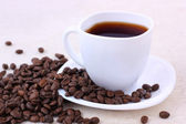 Coffee and coffee beans — Stok fotoğraf