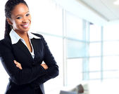 African businesswoman at office — Stock Photo