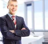 Portrait of a businessman in his office — Stock Photo