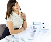 Closeup of businesswoman in the office — Stock Photo