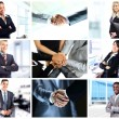 Business theme photo collage composed of different images — Stock Photo #29625633