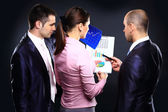 Business team discuss during the meeting — Stock Photo