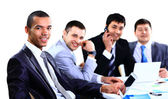 Dyskusji na spotkaniu ludzi biznesu — Zdjęcie stockowe