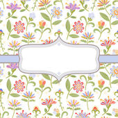 Decorative floral background — Stock Vector