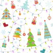 Seamless christmas pattern — Stock vektor