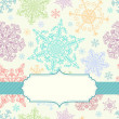 Stock Vector: Background with multicolored snowflakes