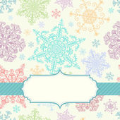 Background with multicolored snowflakes — Stock Vector