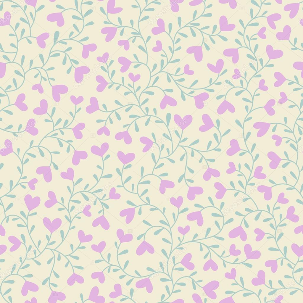 Seamless background with hearts in pastel colors — Stock Vector #17423225