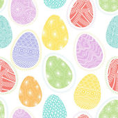 Seamless pattern with decorative Easter eggs — Stock Vector