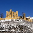 Schloss Hohenschwangau in snow — Stock Photo #17007843