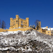 Stock Photo: Schloss Hohenschwangau in snow