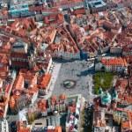 Aerial view of Staromestska square — Stock Photo #17008263