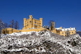 Schloss Hohenschwangau in the snow — Stock Photo