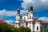 Cathedral of Saint Nicolas in Prague — Stock Photo
