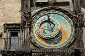 Old astronomical clock in Prague — Stock Photo