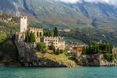 Medieval Scaligero Castle in Malcesine, Italy — Stock Photo