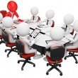 Stock Photo: 3D business white . Business meeting