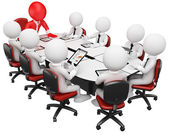 3D business white . Business meeting — Stock Photo