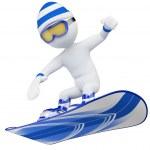 3D white . Snowboard — Stock Photo #17687573