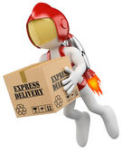 3D white . Express delivery — Stock Photo