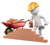 3D white . Construction worker — Stock Photo