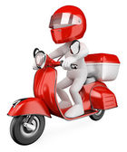 3D white . Courier — Stock Photo